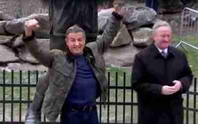 Sylvester Stallone Returns to the Rocky Statue for Creed II