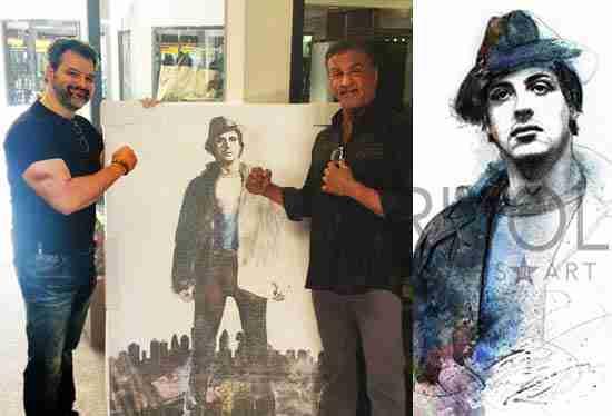 "Artist John Rivoli Continues Rocky Balboa's Story with ""Icons in Art"""
